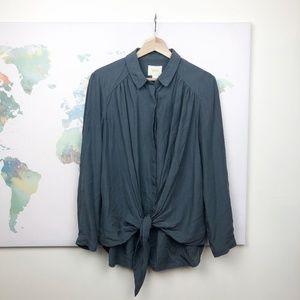 Anthropologie Maeve Button Down Blouse Size Medium